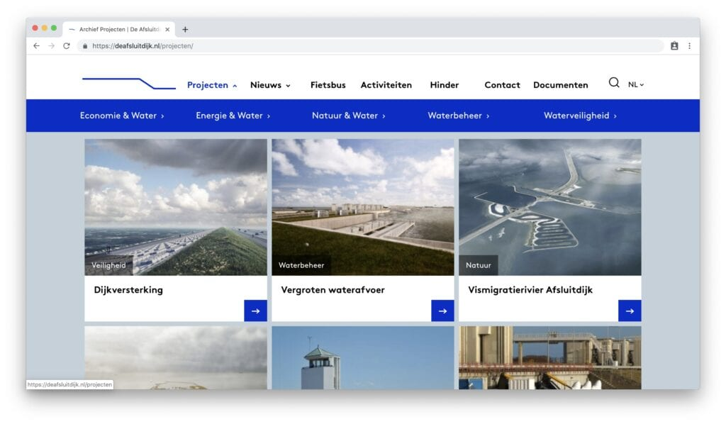 de aflsuitdijk website screenshot